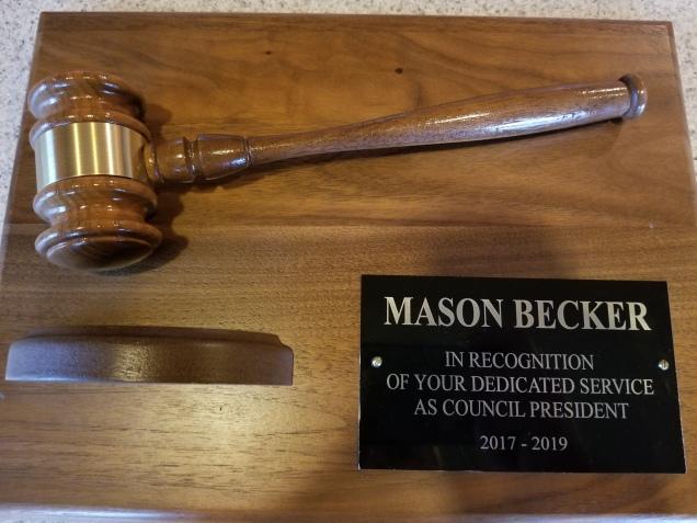 president plaque